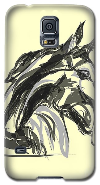 Galaxy S5 Case featuring the painting horse - Apple digital by Go Van Kampen