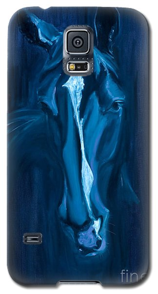 Galaxy S5 Case featuring the painting horse - Apple indigo by Go Van Kampen