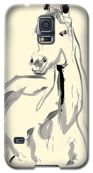 Galaxy S5 Case featuring the painting Horse - Arab by Go Van Kampen