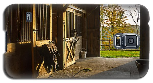Horse Barn Sunset Galaxy S5 Case