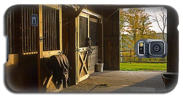Horse Barn Sunset Galaxy S5 Case