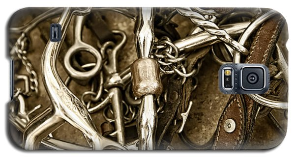 Galaxy S5 Case featuring the photograph Horse Bits And Reins And Ropes by Lincoln Rogers