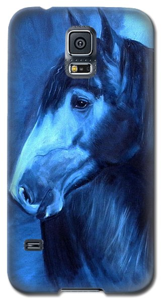 Galaxy S5 Case featuring the painting Horse - Carol In Indigo by Go Van Kampen