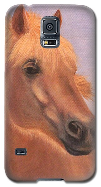 Galaxy S5 Case featuring the painting Horse Close-up by Janet Greer Sammons