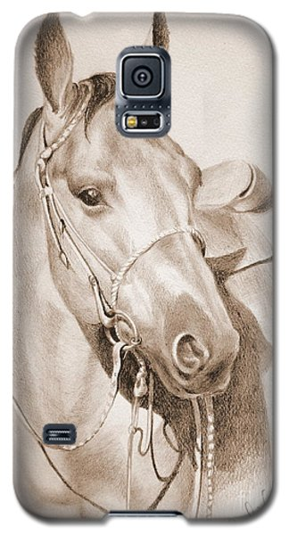 Galaxy S5 Case featuring the drawing Horse Drawing by Eleonora Perlic