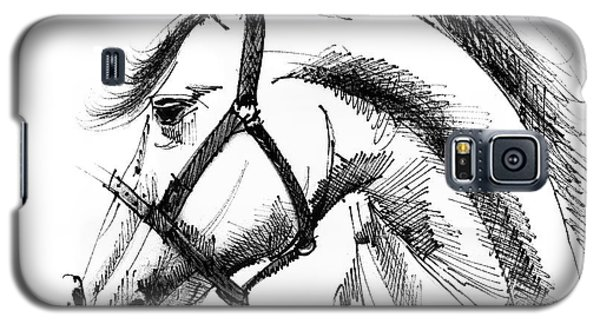 Horse Face Ink Sketch Drawing Galaxy S5 Case