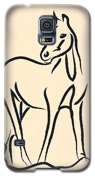Galaxy S5 Case featuring the painting Horse - Grace by Go Van Kampen