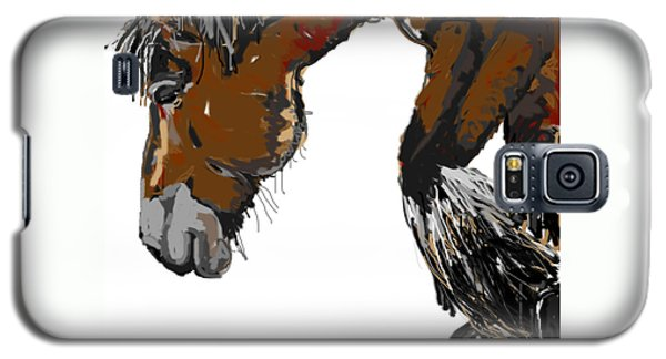 Galaxy S5 Case featuring the painting horse - Guus by Go Van Kampen