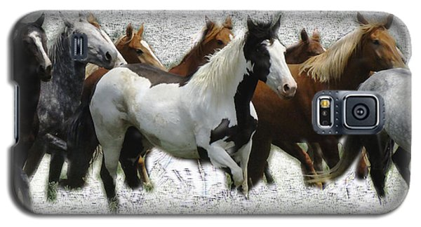 Horse Herd #3 Galaxy S5 Case