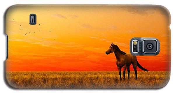 Galaxy S5 Case featuring the digital art Horse In A Field... by Tim Fillingim