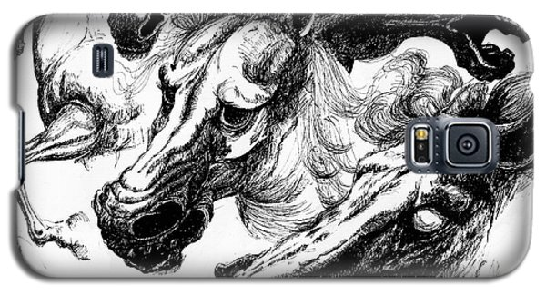Horse Ink Drawing  Galaxy S5 Case