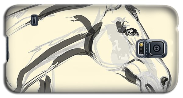 Galaxy S5 Case featuring the painting Horse - Lovely by Go Van Kampen