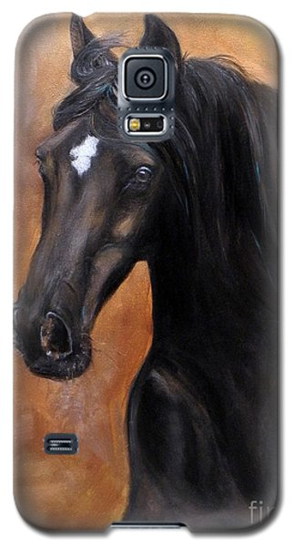 Galaxy S5 Case featuring the painting Horse - Lucky Star by Go Van Kampen
