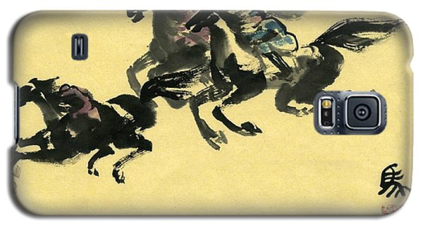 Galaxy S5 Case featuring the painting Horse  by Ping Yan