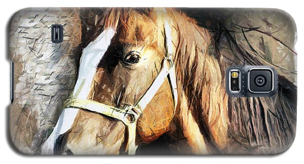 Horse Portrait - Drawing Galaxy S5 Case