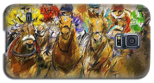 Horse Racing Abstract Galaxy S5 Case
