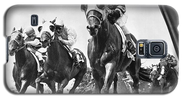Horse Racing At Belmont Park Galaxy S5 Case