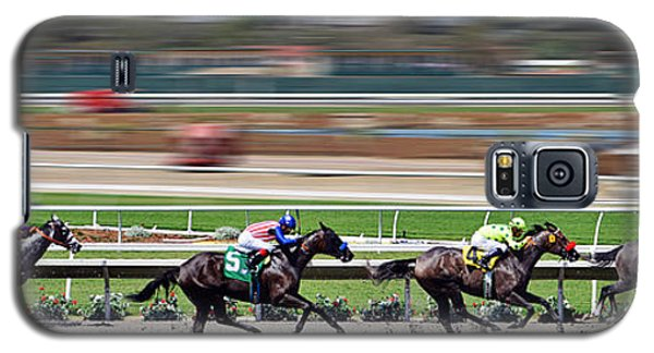 Galaxy S5 Case featuring the photograph Horse Racing by Christine Till