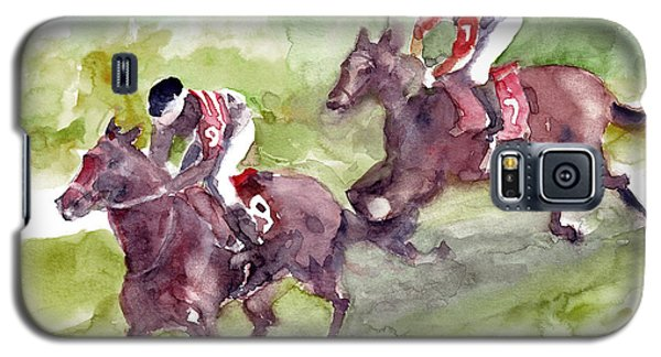 Galaxy S5 Case featuring the painting Horse Racing by Faruk Koksal