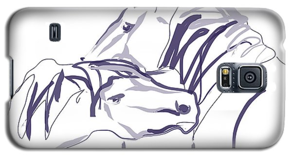Horse - Together 10 Galaxy S5 Case by Go Van Kampen