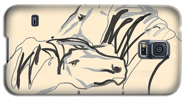 Horse - Together 4 Galaxy S5 Case by Go Van Kampen