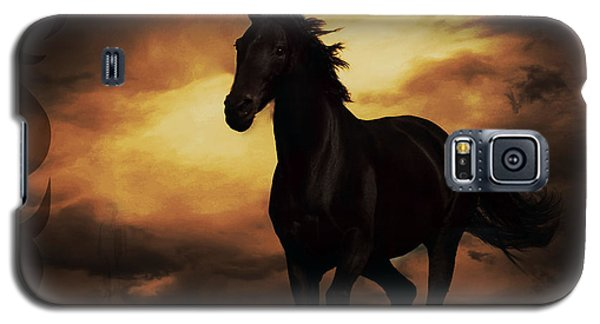 Horse With Tribal Tattoo  Galaxy S5 Case by Mindy Bench