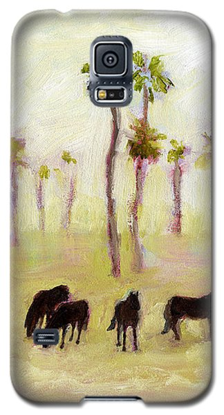 Horses And Palm Trees Galaxy S5 Case