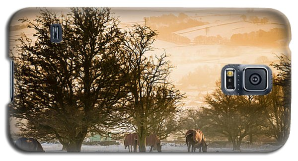 Horses In The Snow Galaxy S5 Case