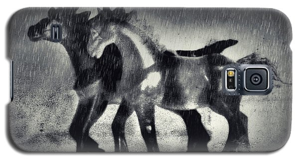 Horses In Twilight Galaxy S5 Case