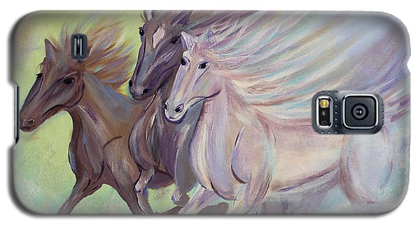 Galaxy S5 Case featuring the painting Horses Of The Sea by Stacey Zimmerman