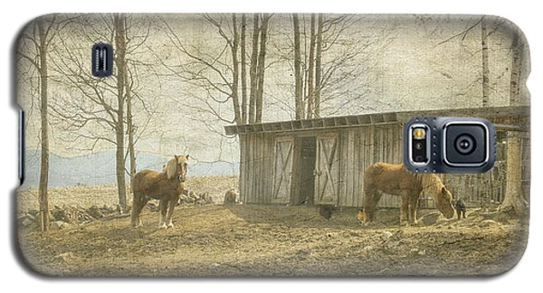 Horses On The Farm Galaxy S5 Case