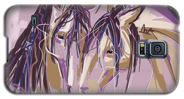 horses Purple pair Galaxy S5 Case by Go Van Kampen