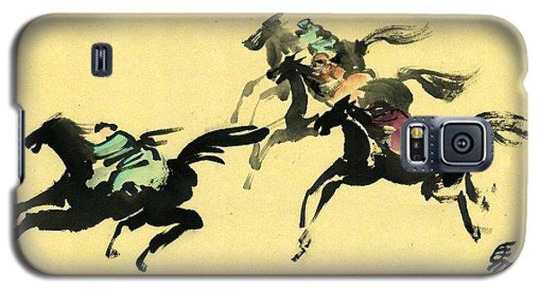 Horse Racing Galaxy S5 Case by Ping Yan