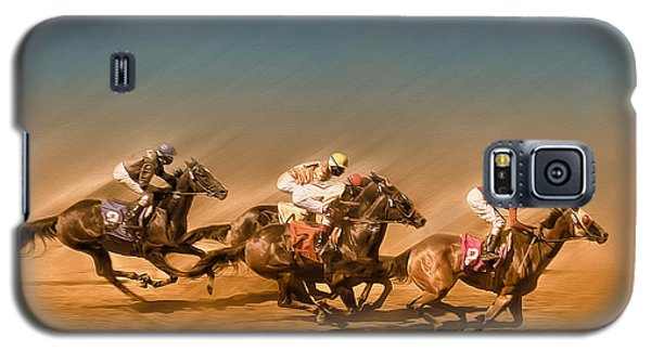 Horses Racing To The Finish Line Galaxy S5 Case