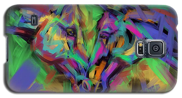 Horses Together In Colour Galaxy S5 Case by Go Van Kampen