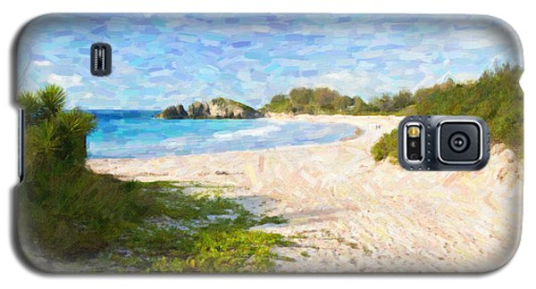 Galaxy S5 Case featuring the photograph Horseshoe Bay In Bermuda by Verena Matthew