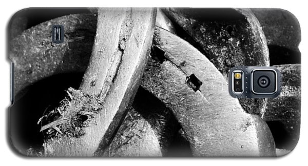 Detail Galaxy S5 Case - Horseshoes Black And White by Matthias Hauser