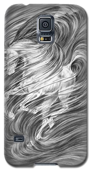 Galaxy S5 Case featuring the drawing Horsessence - Fantasy Dream Horse Print by Kelli Swan