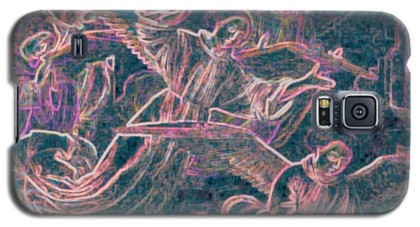 Galaxy S5 Case featuring the digital art Host Of Angels Pink by First Star Art