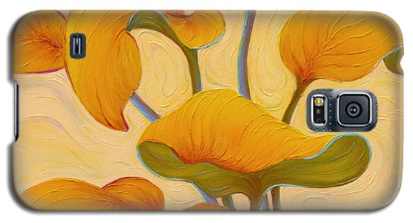 Galaxy S5 Case featuring the painting Hosta Hoofin' by Sandi Whetzel