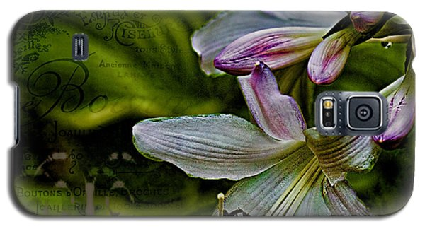Hosta Lilies With Texture Galaxy S5 Case