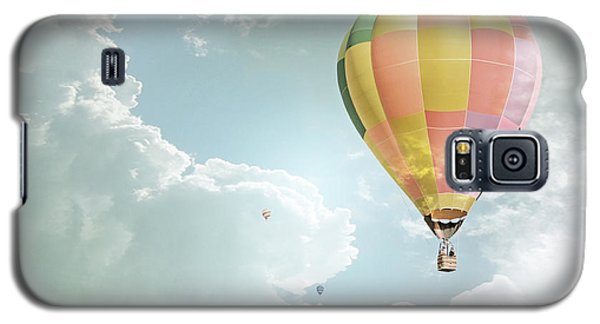 Hot Air Balloon Enchanted Clouds Galaxy S5 Case by Andrea Hazel Ihlefeld