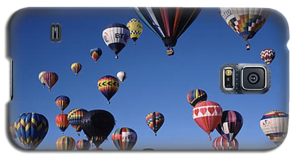 Hot Air Balloons Floating In Sky Galaxy S5 Case by Panoramic Images
