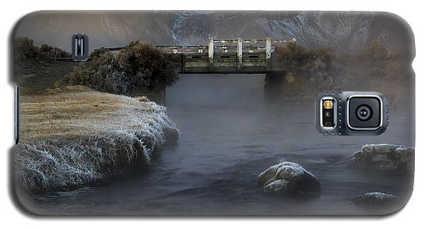 Hot Creek In Winter Galaxy S5 Case