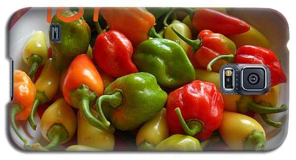 Galaxy S5 Case featuring the photograph Hot Hot Peppers by Heidi Manly