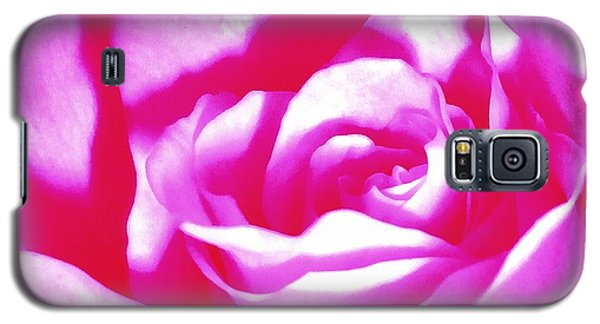 Galaxy S5 Case featuring the photograph Hot Pink And White Rose by Janine Riley