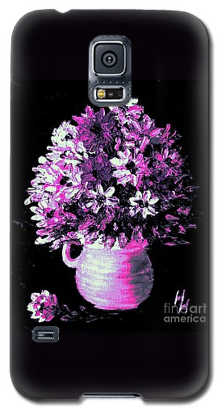 Hot Pink Flowers Galaxy S5 Case by Hazel Holland