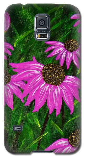 Hot Pink Jungle Galaxy S5 Case by Celeste Manning