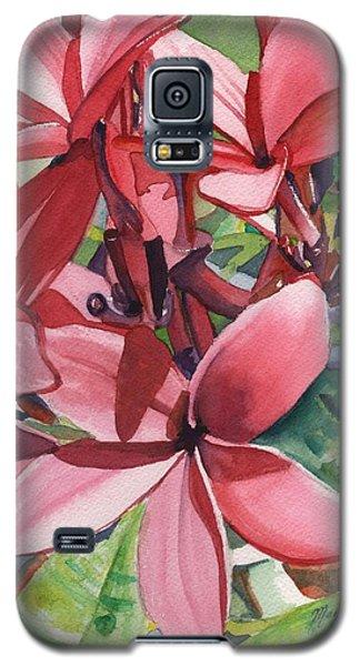 Hot Pink Plumeria Galaxy S5 Case