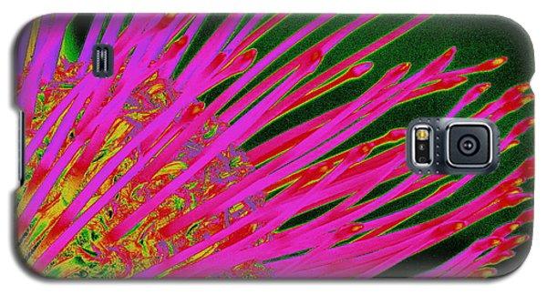 Hot Pink Protea Galaxy S5 Case